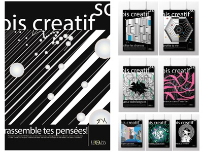 Sois creatif! Be creative!  The advertising compaign of the fren typography poster art poster design illustration
