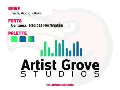 Artist Grove Studios - A logo for a Musician/Producer logos logodesignersclub logo design logodesign logodaily logo branding branding and identity brand identity brand