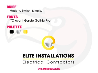 Elite Installations - A logo for an electrician logo design branding logo mark logo designer logos logotype logodesignersclub logo design logodesign logodaily logo branding and identity branding brand identity brand