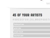 Artists List