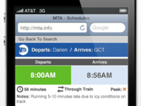 MTA Mobile Site Re-Design