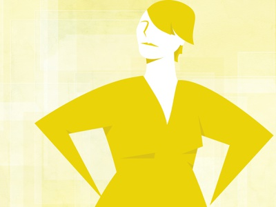 Strong Women Publishers strong woman woman yellow vector editorial illustration publishing