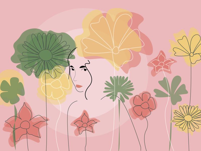 flowergirl illustrator vector illustration