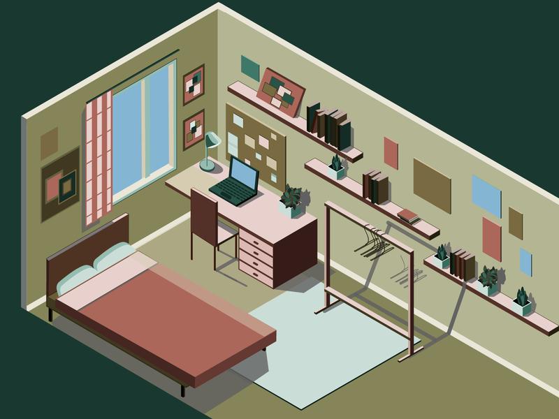 Isometric Interior isometry isometric art illustrator vector illustration