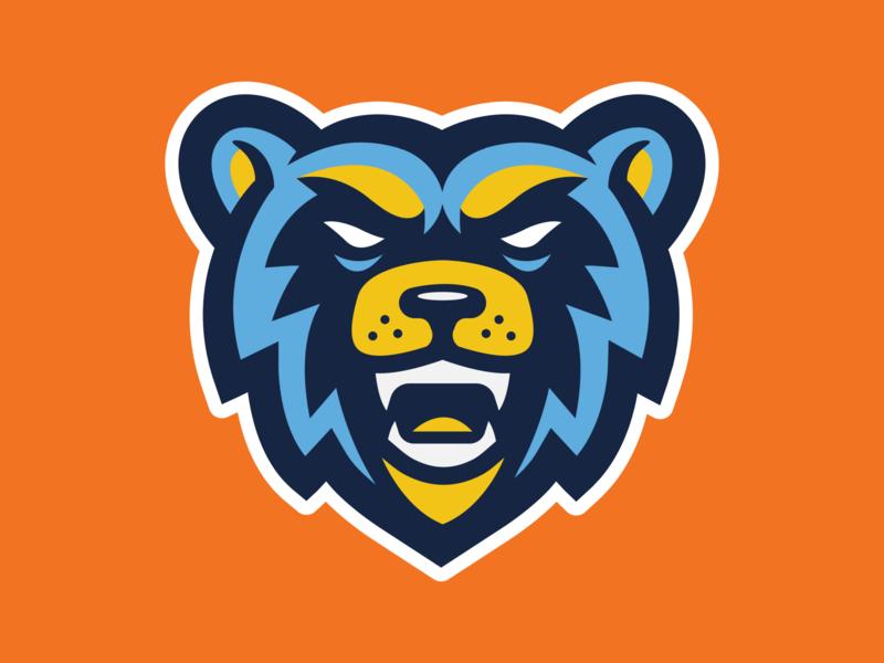 Bead Head Logo bear sports branding mascot logo sports logo sports design mascot design mascot character logo illustration design branding
