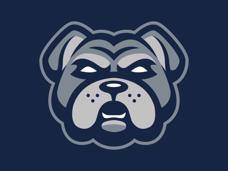 Bull Dog Logo sports branding mascot logo sports logo sports design mascot design mascot character logo illustration design branding