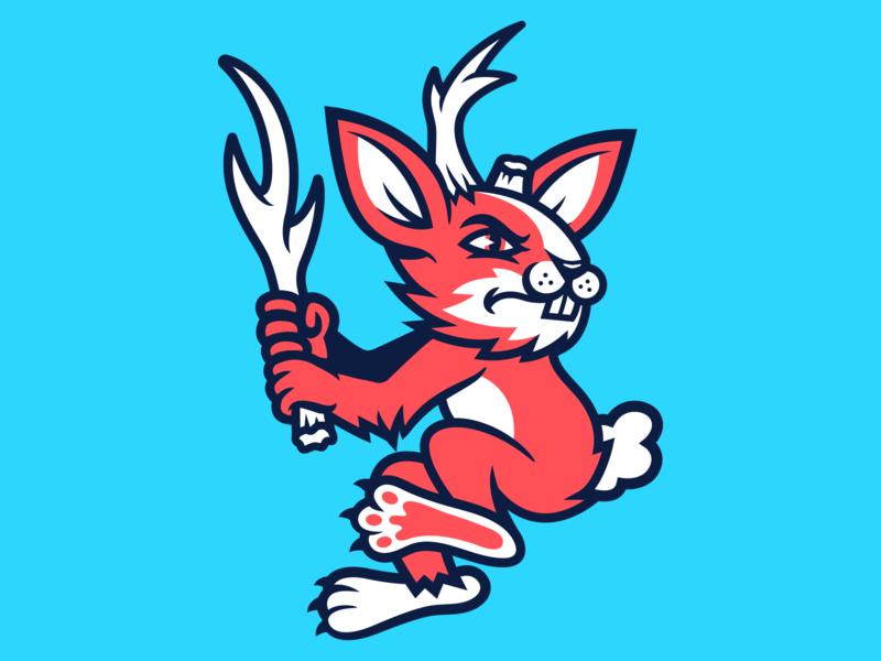 Jackalope Baseball sports branding apparel sports logo sports design mascot design mascot character logo illustration design branding