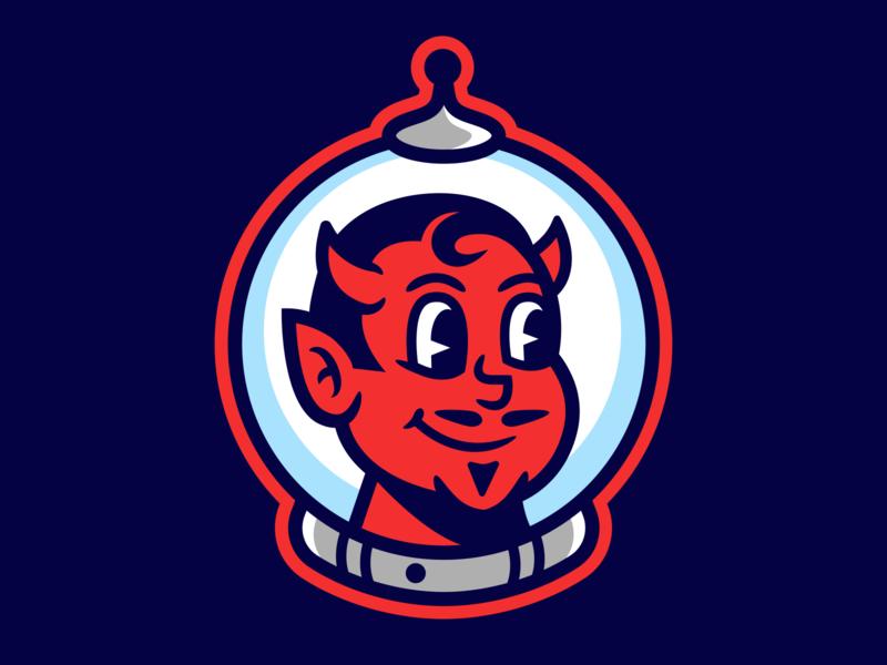 Space Devil Hat apparel mascot logo sports logo sports design mascot design mascot character logo illustration design branding