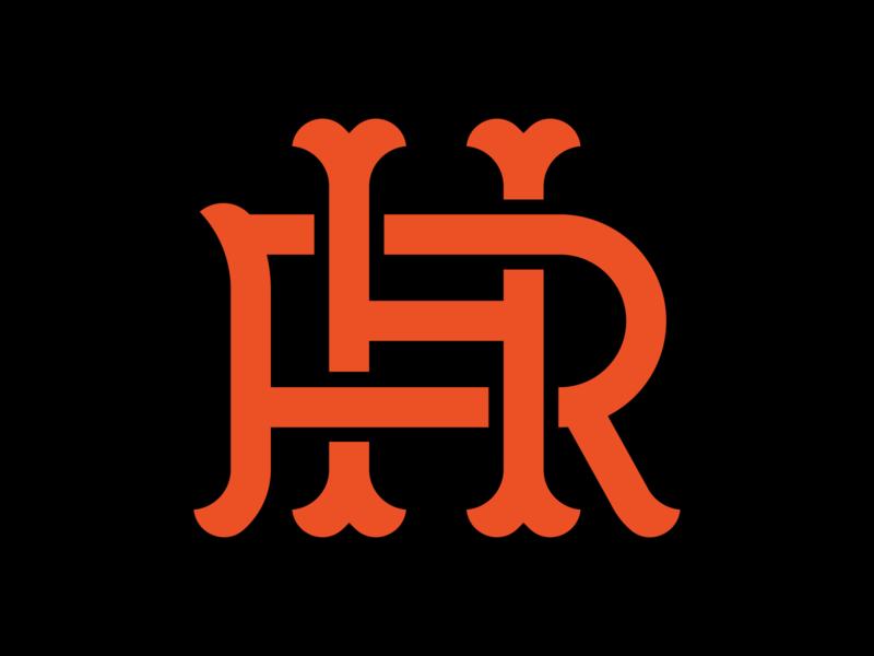 HR Interlock baseball apparel apparel logo sports design sports logo logo design mascot design illustration branding