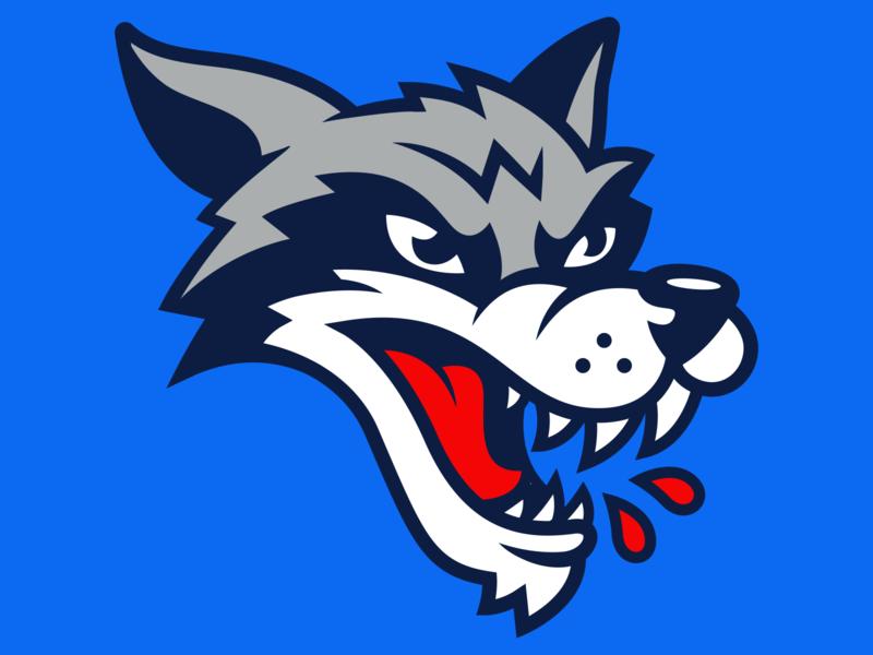 Sudbury Wolves Redesign mascot logo apparel logo apparel ohl hockey logo hockey sports design logo sports logo mascot design illustration branding