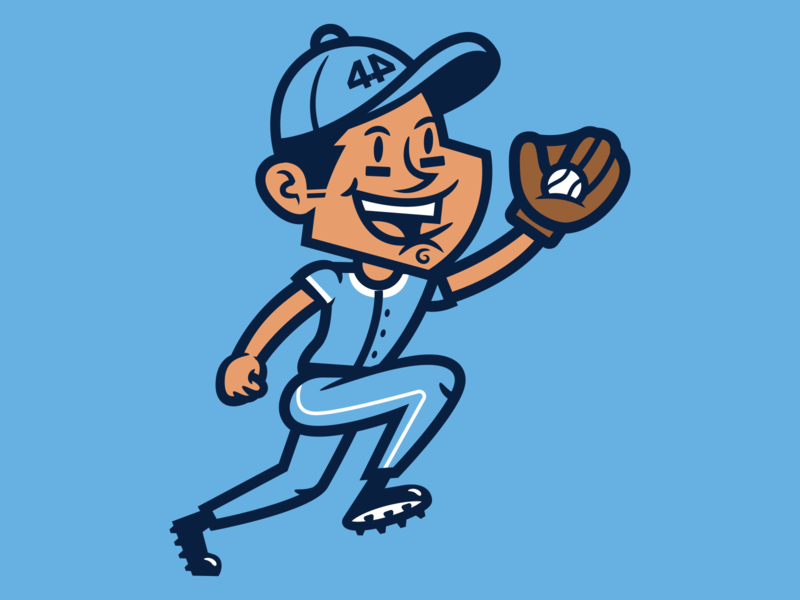 Frankie Fortyfour baseball apparel mascot logo mascot character sports design logo sports logo mascot design illustration branding