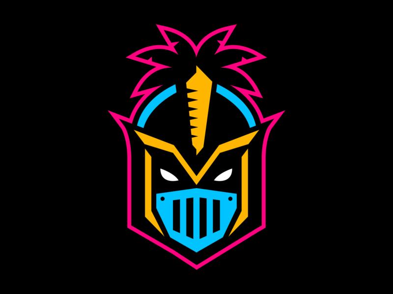 Miami Knights apparel logo mascot logo mascot character design sports design logo sports logo mascot design illustration branding