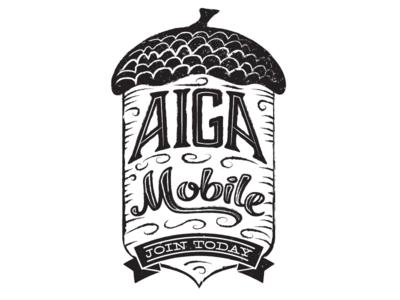Aiga Mobile Acorn aiga acorn membership grow tree block print
