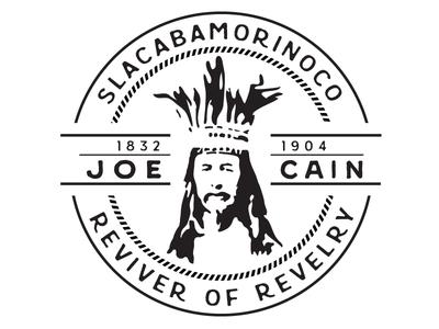 Chief Slacabamorinoco typography carnival celebration mardi gras illustration badge