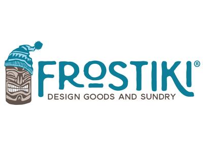 Frostiki Horizontal Logo illustration logo shop creative market polynesian tropical tiki