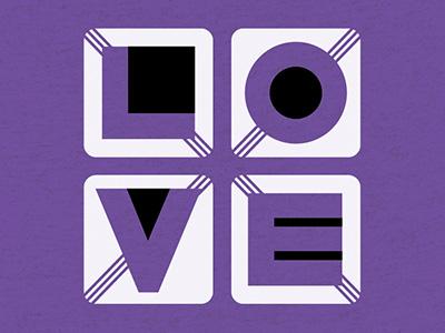 Love Letters Shirt t-shirt cotton bureau shapes letters black and white lines modern geometric love