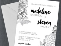 Sketch Doodle Wedding Invitation