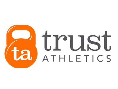Trust Athletics Logo Concept fitness crossfit gym athletics typography logo