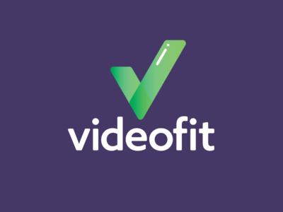 videofit app logo concept branding concept typography app logo fitness branding design branding logo