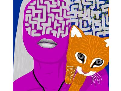 Labyrinth girl girl purple labyrinth