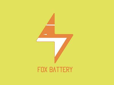 Fox battery logo logodesign logoconcept