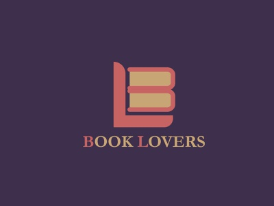 book lovers logoconcept logo logodesign