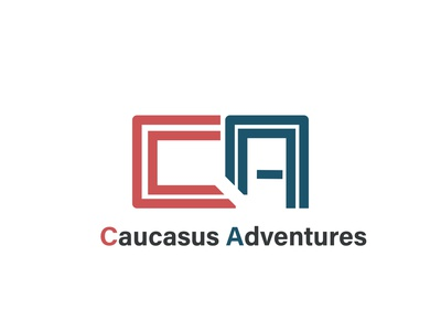 Caucasus Adventures ca logo logo logoconcept banner bannerdesign cleaning logoconcept logo logodesign typography