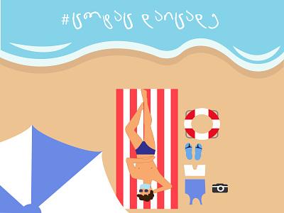 summer facemask virus covid19 summer flatdesign