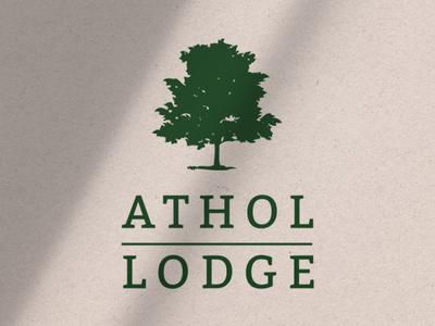 Athol Lodge Stacked Logo Element logo design branding