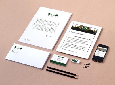 Athol Lodge Brand Identity website design stationery logo design branding