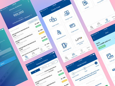HDFC Mobile Banking App Redesign  user experience user interface interaction design redesign art direction illustration uiux