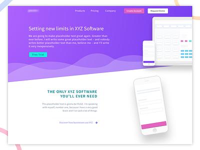 Product Landing Page simple minimal clean landing page gradients web ux ui