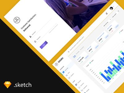 Restaurant Backend Dashboard [ FREEBIE ] web sales data analytics charts statistics sidebar cards desktop dashboard admin