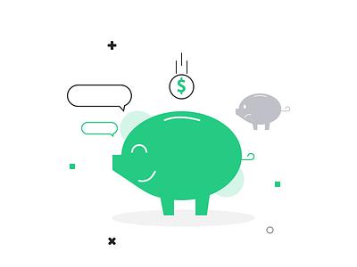 Save Money Illustration economy character money illustration freebie