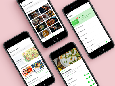 Food Delivery App restaurant cafe food delivery application ios ux ui delivery food