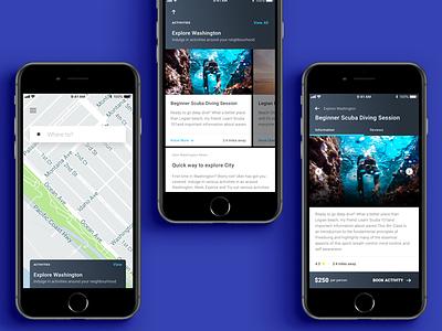 Uber Activities Concept location commute driver uber design cars travel ui ux uber