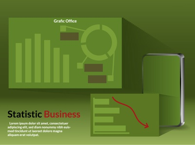 Statistic on mobile ui branding people business designer website illustration design landing isometric
