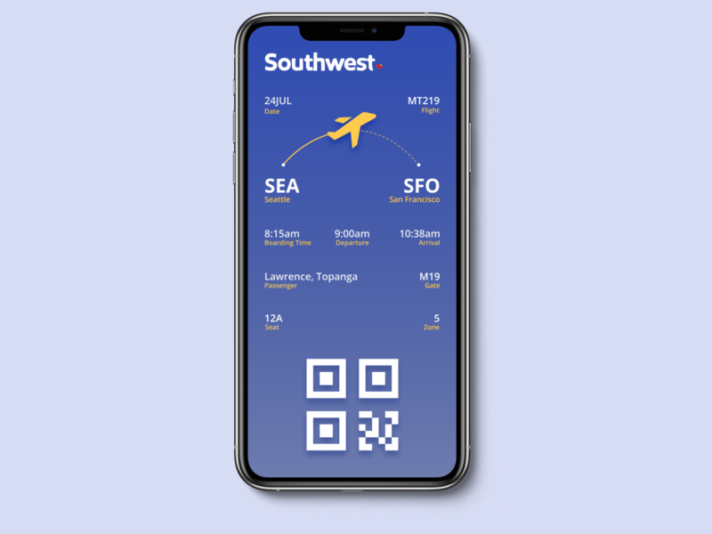 Daily UI 024 - Boarding Pass mobile app mobile ux boarding pass daily ui ui design