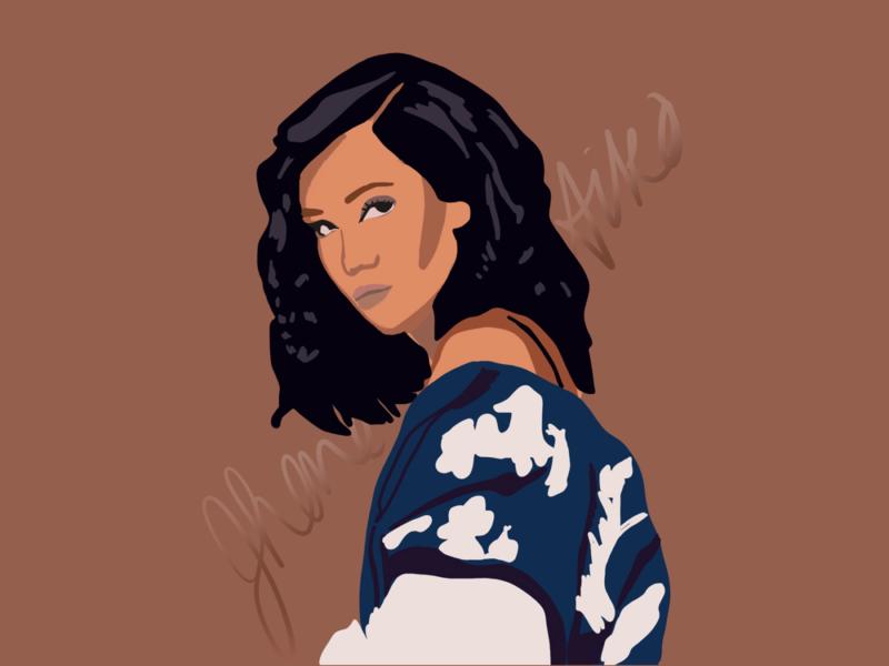 Jhene Aiko illustrations illustrator graphic procreate illustration design