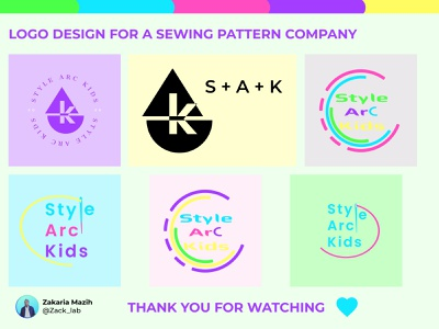 Style Arc kids Logo design logodesign design fashion kids explore adobe illustrator illustration logo branding figma