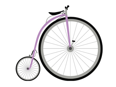 Penny Farthing penny farthing clean vector riding bike bicycle