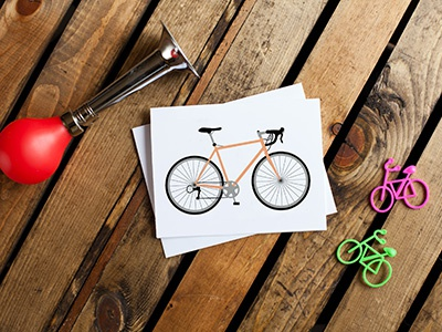 Bicycle Card #1: Road Bike art color illustration vectorart bicycling cycling bicycle bike