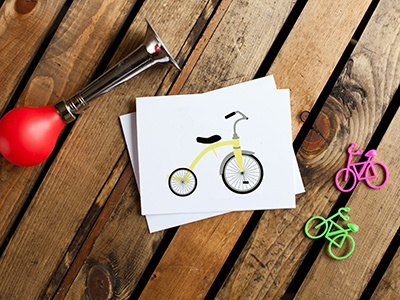 Bicycle Card #2: Tricycle art color illustration vectorart bicycling cycling bicycle bike