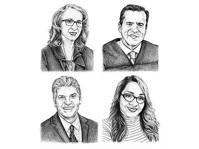San Diego Magazine san diego magazine san diego art drawing graphite portraits editorial illustration spot illustration illustration lawyers