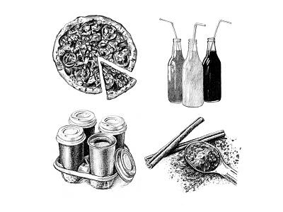 Men's Health Bulletin - June & October 2016 food illustration food mens health editorial illustration editorial graphite drawing illustration