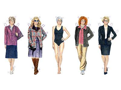 The Americans Elizabeth Jennings Paper Dolls elizabeth jennings keri russell pop culture celebrity tv the americans drawing art illustration