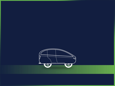 Green & clean energy for the future motion gradient green money futuristic car