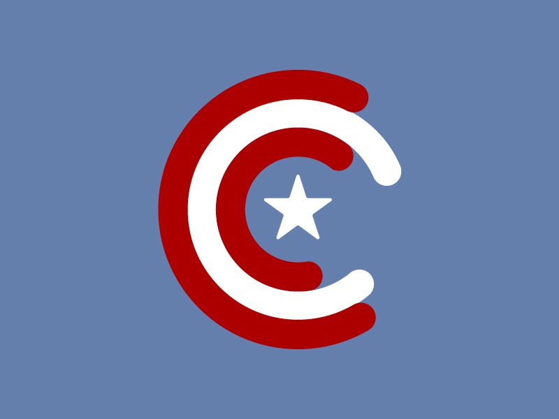 C is for obvious 36 days of type captain america geek superhero white red blue america captain cap shield type