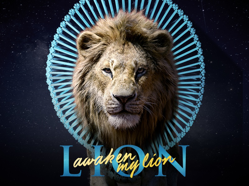 Have Some Love script crown cosmic blue lion lion king childish gambino
