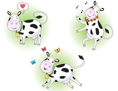Character in motion cute animal funny cartoon motion graphics motion design cow character design art